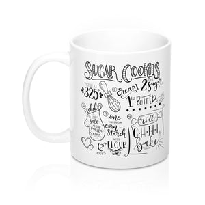 (b) Sugar Cookie Recipe Mug
