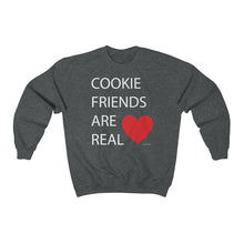 Load image into Gallery viewer, Cookie Friends Are Real Unisex Heavy Blend Crewneck Sweatshirt