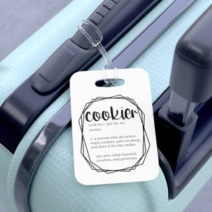 (a) Cookier Definition Bag Tag