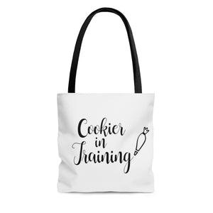 (a) Cookier in Training AOP Tote Bag