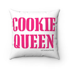 Load image into Gallery viewer, Cookie Queen Pink Spun Polyester Square Pillow