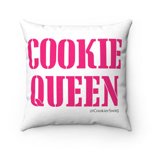 Cookie Queen Pink Spun Polyester Square Pillow