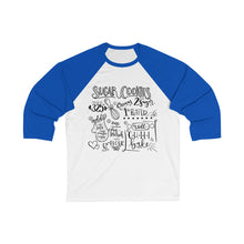 Load image into Gallery viewer, (b) Sugar Cookie Recipe  Bella+Canvas 3200 Unisex 3/4 Sleeve Baseball Tee