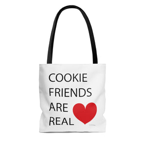 Cookie Friends Are Real AOP Tote Bag