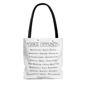 Cookie Community AOP Tote Bag