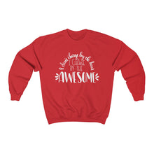 Load image into Gallery viewer, (a) I Charge By The Awesome Unisex Heavy Blend™ Crewneck Sweatshirt
