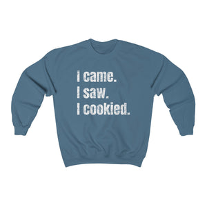 I Came. I Saw. I Cookied. Gildan 18000 Unisex Heavy Blend™ Crewneck Sweatshirt