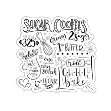 Load image into Gallery viewer, (b) Sugar Cookie Recipe Kiss-Cut Sticker