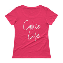 Load image into Gallery viewer, Cookie Life White Ladies' Scoopneck T-Shirt Anvil 391A