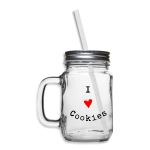 I Love Cookies Mason Jar - clear