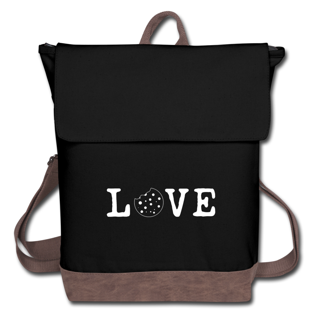 Love Canvas Backpack - black/brown
