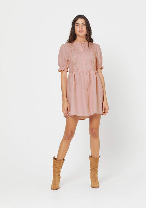 AUGUSTE MARA MINI DRESS BLUSH