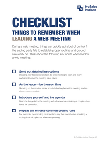 Things to Remember When Leading a Web Meeting