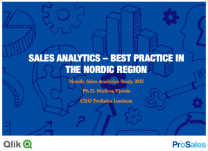 Nordic Sales Analytics Study