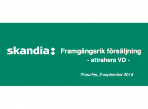 insight selling och challenger sales Skandia-case