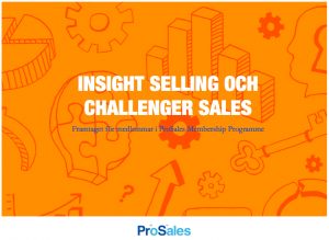 insight selling och challenger sales