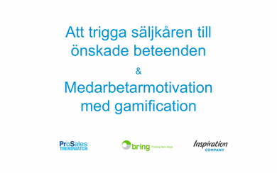 Presentation: Motivation management och gamification