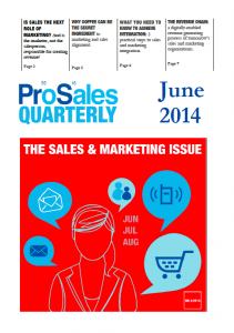 PROSALES QUARTERLY NR 2:2014 – THE SALES AND MARKETING ISSUE