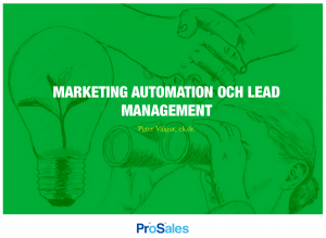 marketing automation och lead management