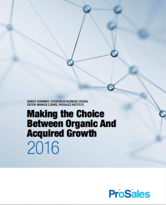 Making the Choice Between Organic And Acquired Growth