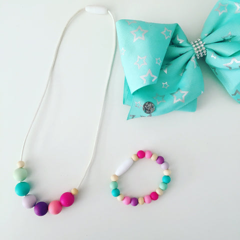 Kids silicone sensory necklace