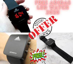 Curren Luxury Water-Resistant Watch with FREE Adidas LED Watch 2020