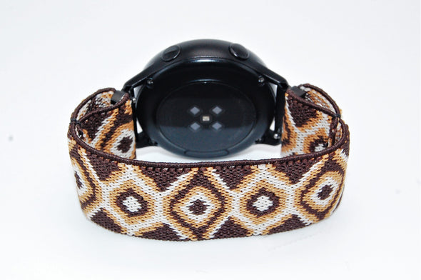 Mocha - 18mm, 20mm, and 22mm Elastic Watch Bands (Samsung Galaxy, Garmin, Fossil, Amazfit, Huawei, and more)