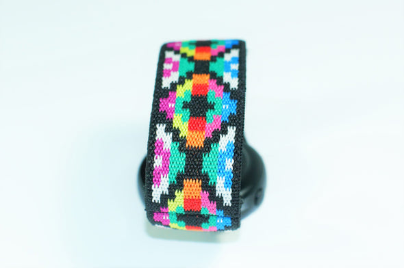 Aztec Chromatic - 18mm, 20mm, and 22mm Elastic Watch Bands (Samsung Galaxy, Garmin, Fossil, Amazfit, Huawei, and more)