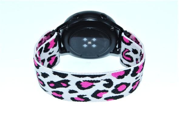 Snow Leopard - 18mm, 20mm, and 22mm Elastic Watch Bands (Samsung Galaxy, Garmin, Fossil, Amazfit, Huawei, and more)