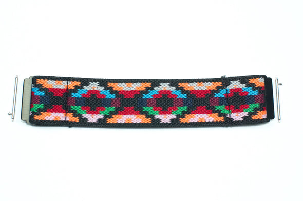 Aztec Red - 18mm, 20mm, and 22mm Elastic Watch Bands (Samsung Galaxy, Garmin, Fossil, Amazfit, Huawei, and more)