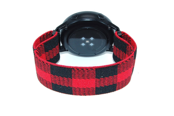 Red Buffalo - 18mm, 20mm, and 22mm Elastic Watch Bands (Samsung Galaxy, Garmin, Fossil, Amazfit, Huawei, and more)