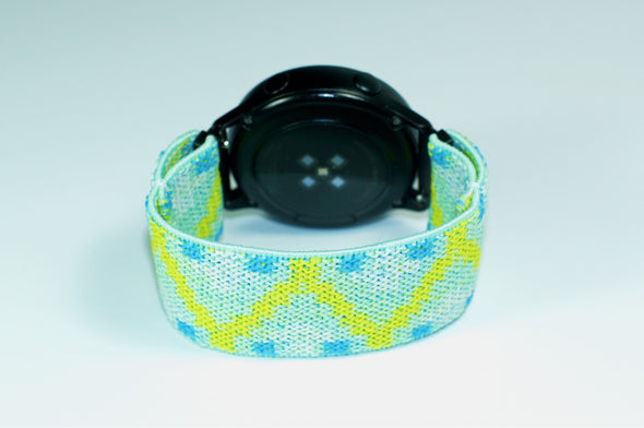 Sea Foam -  18mm, 20mm, and 22mm Elastic Watch Bands (Samsung Galaxy, Garmin, Fossil, Amazfit, Huawei, and more)