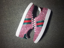 Load image into Gallery viewer, Pink Ace Glitter sneakers
