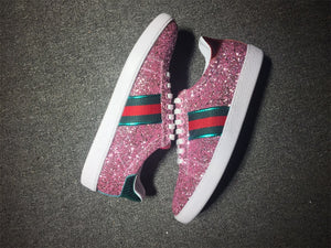 Pink Ace Glitter sneakers