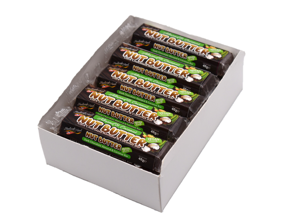 Dark Chocolate Almond and Coconut Nut Butter Bars in a case - (20x40g)