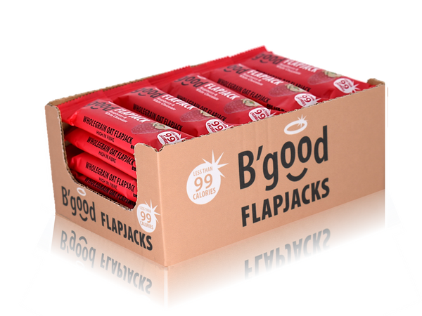 Buy 24 x 28g B'good Raspberry & White Chocolate Flapjacks - Special Case Price (24x28g)