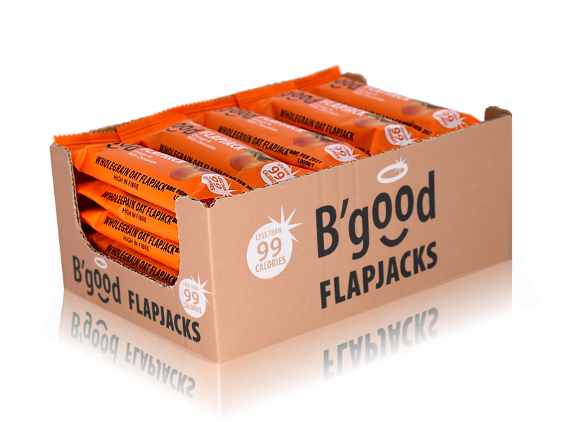 Buy 24 x 28g B'good Orange & Milk Chocolate Flapjacks - Special Case Price (24x28g)