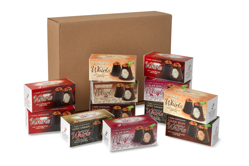 Dark Chocolate 12 Whirls of Christmas Gift Box Bundle - (1206g)