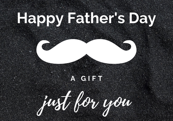 Happy Father's Day Greetings Card Moustache