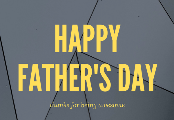 Happy Father's Day Greetings Card Yellow