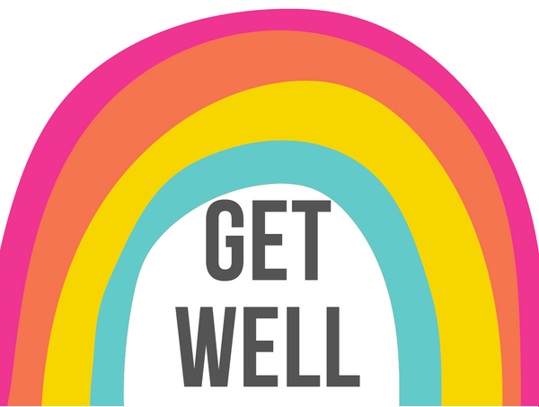 Get Well Rainbow Greetings Card