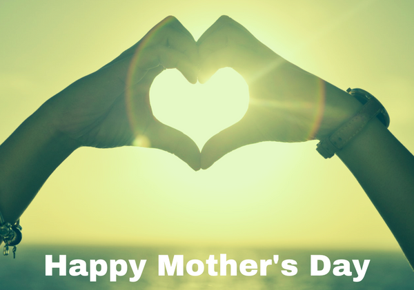 Happy Mother's Day Greetings Card Hand Heart