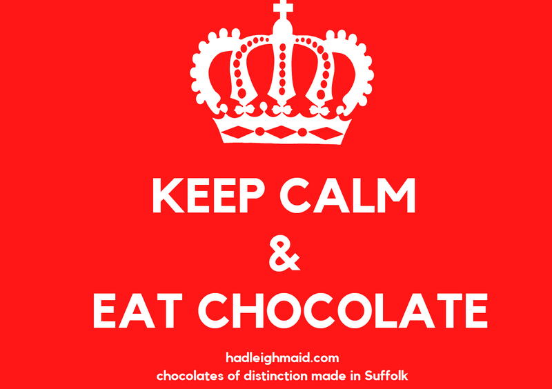 Keep Calm and Carry on Eating Chocolate Greetings Card
