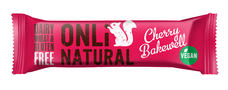 ONLi Natural Cherry Bakewell Fruit and Nut Bars - Special Case Price (24x35g)