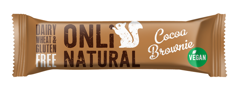 ONLi Natural Cocoa Brownie Fruit and Nut Bar - Special Case Price (24x35g)