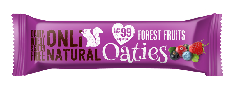ONLi Natural OATIES Forest Fruits Flapjacks - Special Case Price (24x28g)