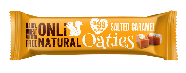 ONLi Natural OATIES Salted Caramel Flapjacks - Special Case Price (24x28g)