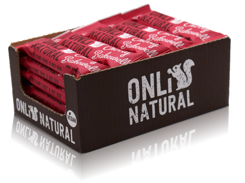 ONLi Natural Cherry Bakewell Fruit and Nut Bar Gluten Free Vegan (35g)