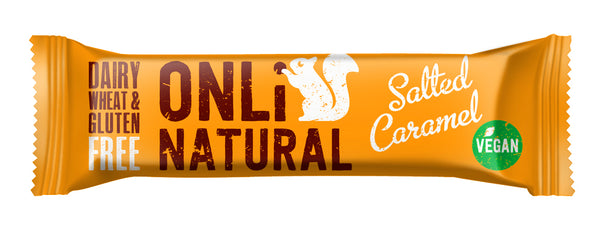 ONLi Natural Salted Caramel Fruit and Nut Bars - Special Case Price (24x35g)