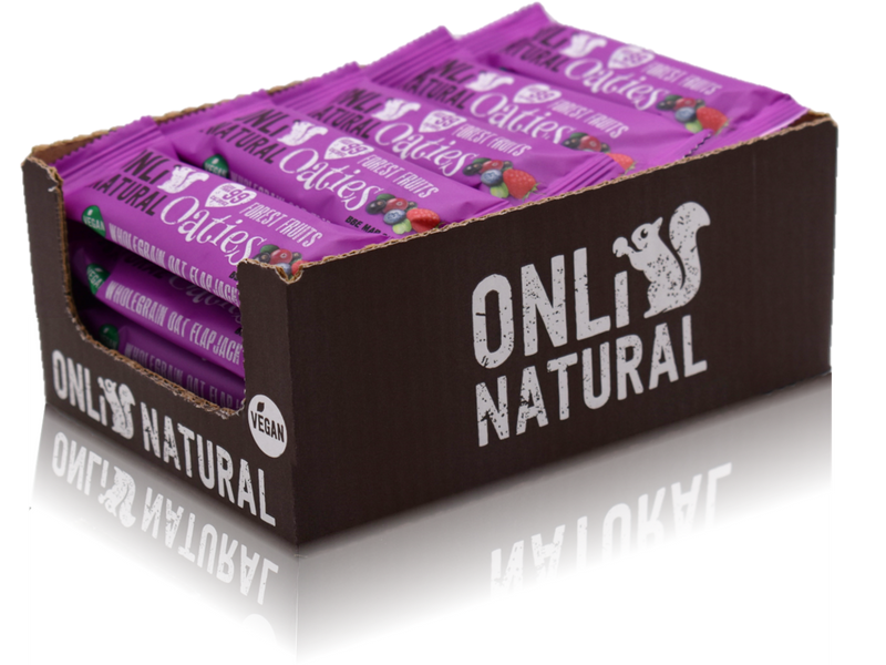 ONLi Natural OATIES Forest Fruits Gluten Free Vegan Flapjacks (28g)